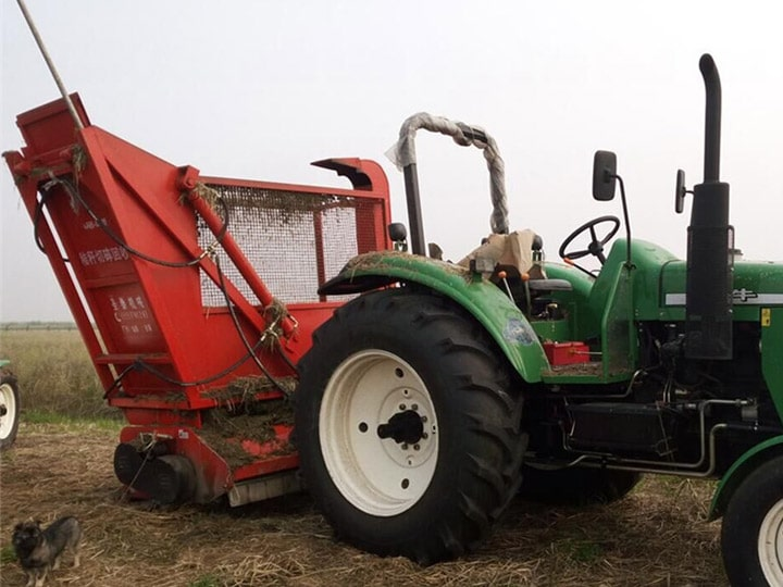 straw-harvester-with-tractor