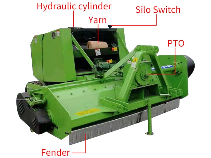 structure of Forage Crushing And Baling machine
